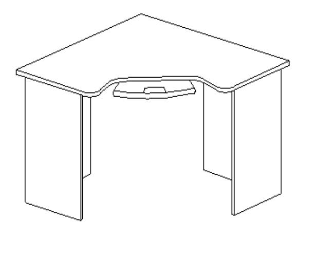 Стол компьютерный угловой ДН-