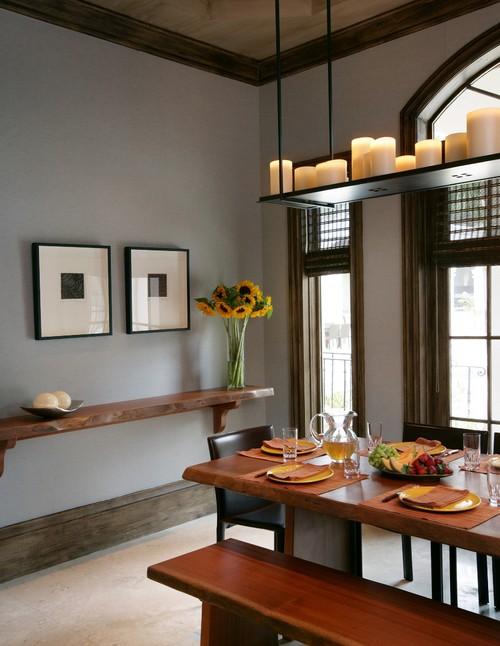 Dining room shelves decorating ideas