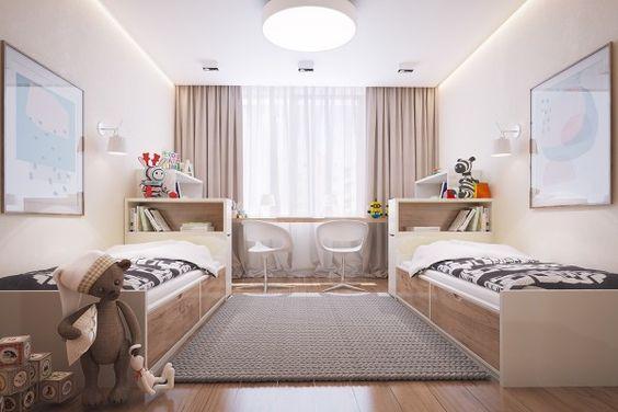 Подростковая комната для двоих: варианты планировки.