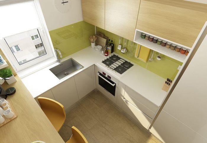 как обустроить кухню 6 кв.м фото