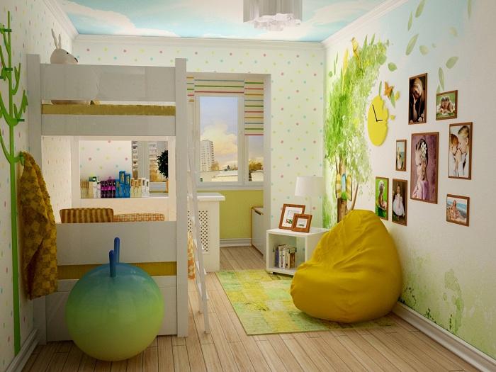 Дизайн комнаты 12 кв м с лоджией