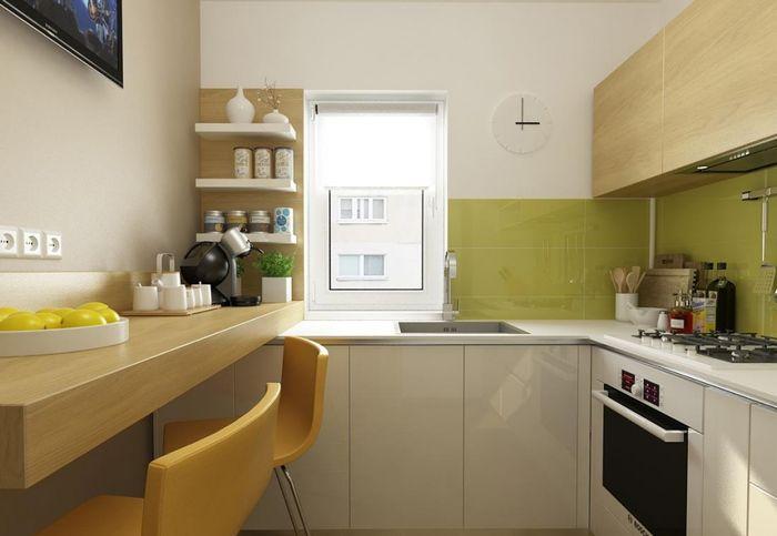 Дизайн кухни 6 кв.метров