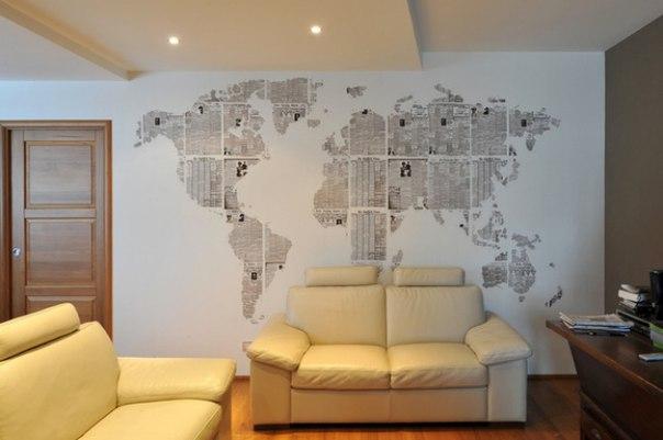 Интерьер на стене своими руками 655