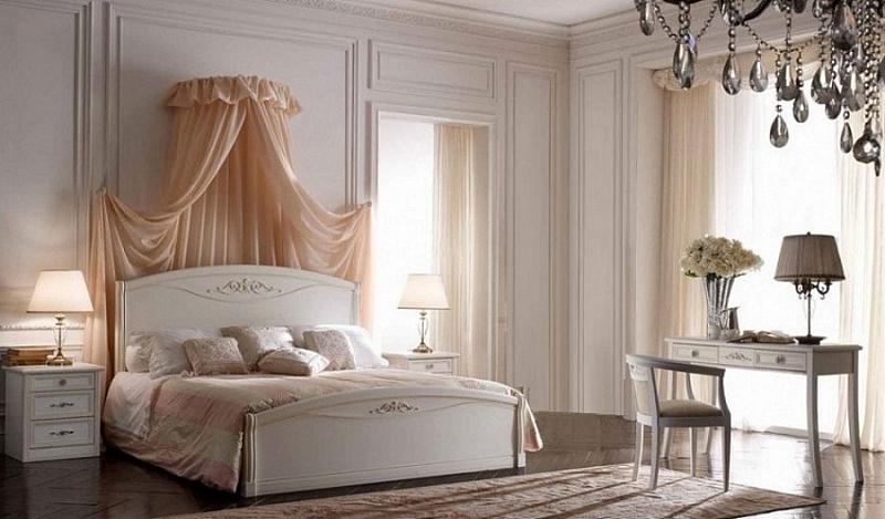 классическая белая мебель для спальни с чем сочетать для уютного